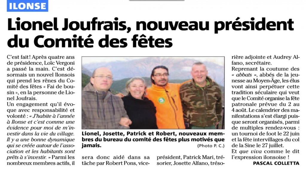Lionel Joufrais, nouveau président du Comité des fêtes dans Actualités comite-fetes
