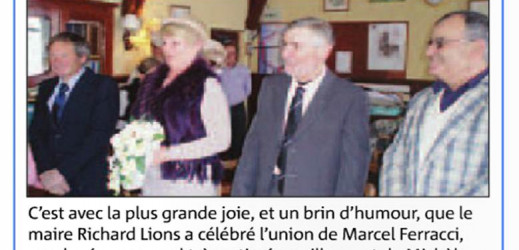 Mariage de Marcel et Michèle : «Mariage neigeux, mariage heureux»
