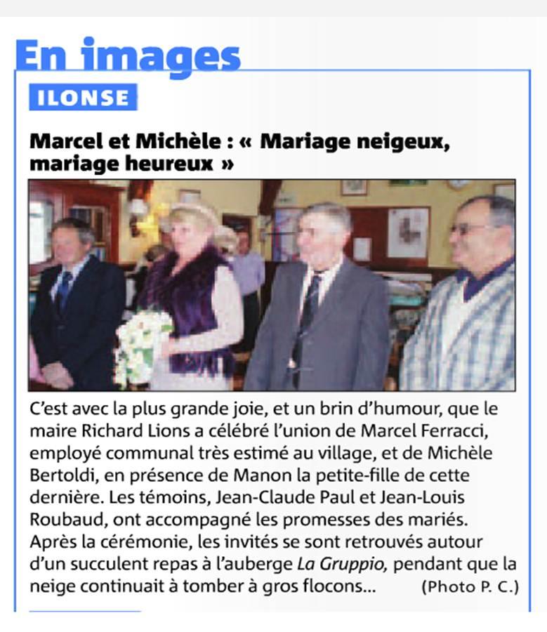 Mariage de Marcel et Michèle :