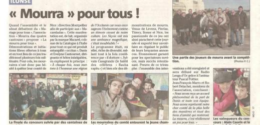 Mourra pour tous à Montpellier