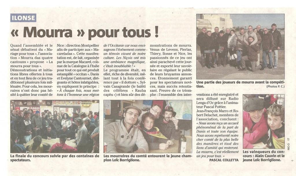 Mourra pour tous à Montpellier dans Actualités