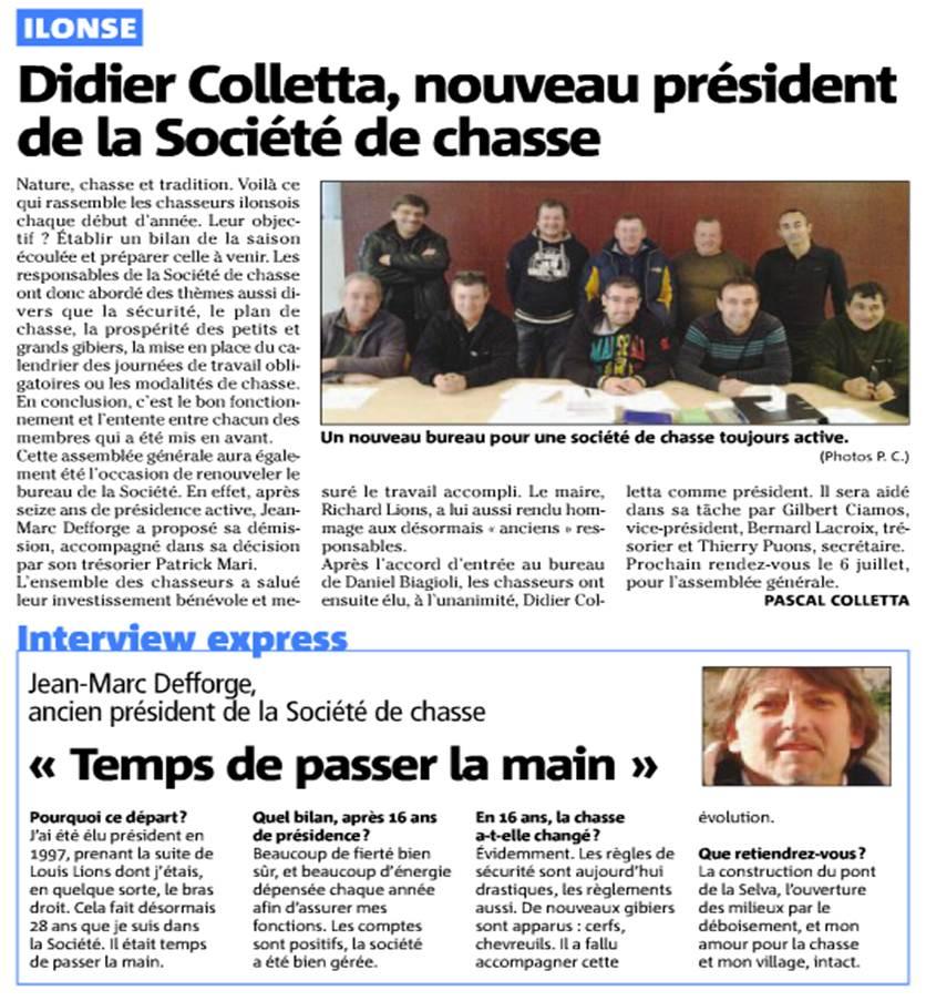 Didier Colletta, nouveau président de la société de chasse dans La vie des Chats d'Ilonse chasse-ilonsemars13