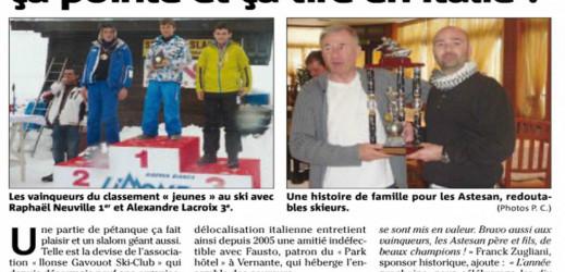 Ilonse Gavouot Ski Club : ça glisse, ça pointe, ça tire en Italie !